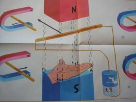 初级中学课本物理第二册教学挂图(下)10(3)左手定则