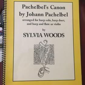 竖琴谱:卡农竖琴谱集,仅34弦以上扳键琴和踏板琴,少量现货不包邮