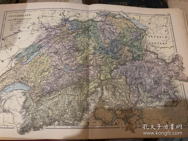 1895年瑞士地图