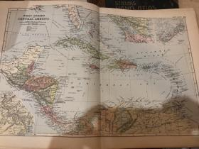 1895年西印度群島地圖