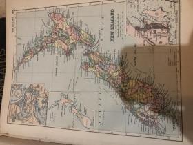 1895年新西蘭地圖