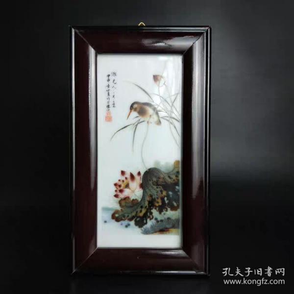 民國粉彩花鳥瓷板畫
