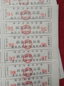 怀旧收藏 八十年代供应票《锦西市副食供应票》尺寸27*19cm