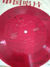 小薄膜唱片 中国唱片社出版 越剧祥林嫂第7面第8面 +第9面第10面 两张合售(有一张唱词)