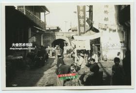 民国1936年5月31日江苏苏州的街道老照片,可见轮船局国军士兵等,泛银