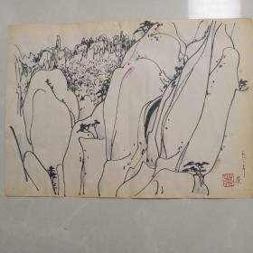 8.21吴冠中  八三年老素描画