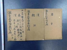 「激素飞青阁模刻古碑」3册