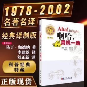 啊哈灵机一动中译版 科学出版社马丁伽德纳 李建臣刘正新 二十世纪科普经典珍藏版从一到无穷大物理世界奇遇记