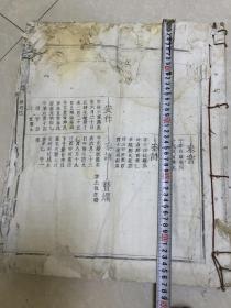 清光绪家谱 兴雩严氏族谱一册 超大开本