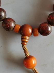 古董杂项老琥珀珠子