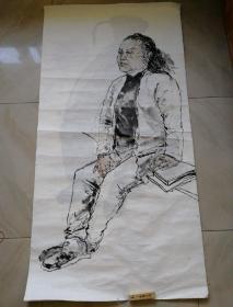 国画原画水墨画138x68cm