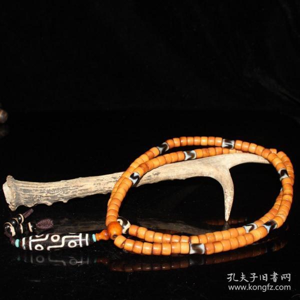 骨头天珠串尺寸:58#6#1.5