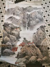 上海著名画家钱毅山水