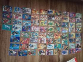 食品卡--水浒英雄传,封神演义,三国,天龙八部等76张合售