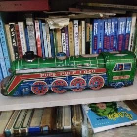 PUFF-PUFF-LOCO儿童玩具铁皮火车 39厘米长10厘米高【品相如图】