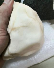 3736  新疆 羊脂白 戈壁玉 原石 摆件 685克