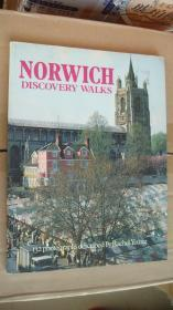 NORWICH DISCOVERY WALKS (132 photographs described by Rachel Young) 英文原版16开
