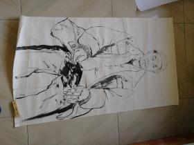 国画原画原作人物画118x68cm