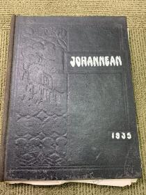 1935年上海《圣约翰大学年刊一册》,有些散叶,品相略差一点       圣约翰大学(St. Johns University),简称圣约翰、约大,诞生于1879年,初名为圣约翰书院。1881年成为中国首座全英语授课的学校。1892年起开设大学课程,1905年升格为大学,是中国第一所现代高等教会学府。1913年开始招收研究生。至1949年春,学校设有文、理、医、工、神5个学院和附属中学