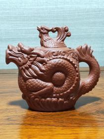 紫砂龙凤呈祥壶(xka)(多平台同售,请先咨询情况,避免已售)