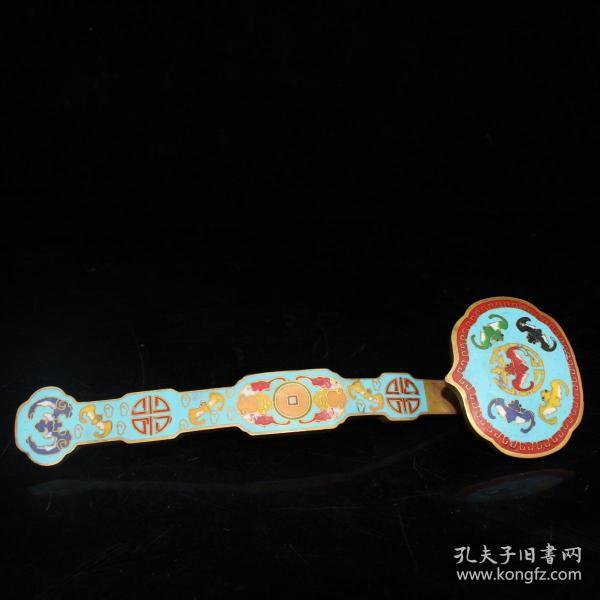 景泰蓝掐丝如意尺寸:6.5#20.5#3.5