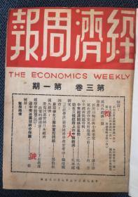 民国老期刊 经济周报 民国三十五年全年二十五期合订本