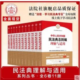 2020中华人民共和国民法典理解与适用丛书 全6套 11册