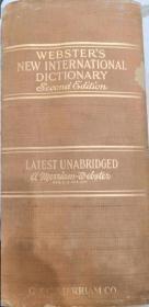 1950年WEBSTERS NEW INTERNATIONAL DICTIONARY Second Edition Unabridged 韦氏新国际字典-第二版-未删减版