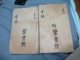 清朝木刻本《牛经验方》(图像水黄牛经合并大全)上下两卷两册全 E1