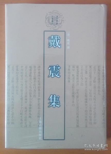 戴震集:清代学者文集丛刊