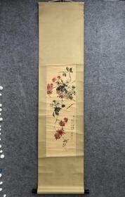 大典名头 潘—元—贞 花卉 立轴