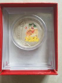 2009年80克牛年吉祥ag99.9生肖纪念章