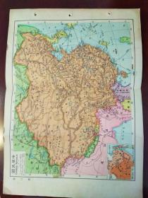 民国:中华民国地图,世界地图两张合售(包老包真)