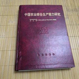 中国农业综合生产能力研究