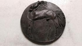 """1989年-中央美院雕塑研究员""""小马驹""""铜铸雕塑"""