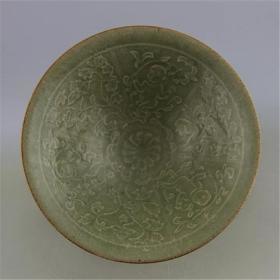 宋耀州窑 暗雕娃娃纹斗笠碗 做旧仿古瓷器 老货旧货收藏古玩古董
