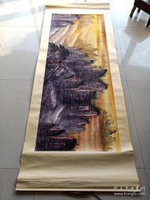 乡下收的近代名人刘海粟山水画一幅b