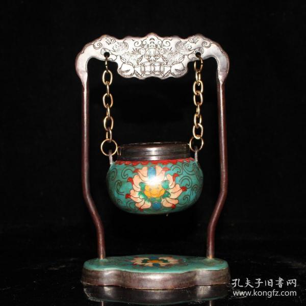 景泰蓝吊炉尺寸:11#6#17.5