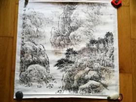 福建画院  陆广雄  山水画  深峡祥光  68*68