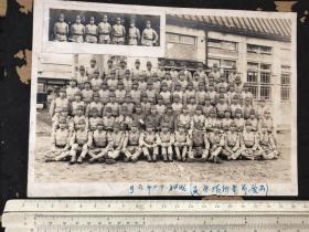 1938年6月出发前日军青拆部队全员合影老照片大尺寸