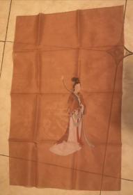 清代或民国佚名手绘绢本 洛神图