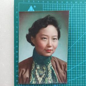 民国 老照片 民国旗袍美女 上色照片