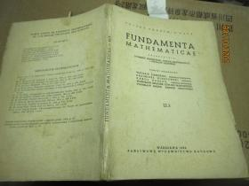 FUNDAMENTA MATHEMATICAE 毛边 7908