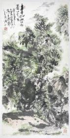 得自作者本人,终身保真(有合影)     王健尔,上海人,曾为中国美术学院客座教授,浙江画院专职画师。现为澳门画院副院长,浙江画院特聘画师。1