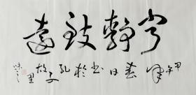 【自写自销】当代艺术家协会副主席王丞手写 宁静致远198