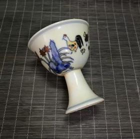 斗彩鸡缸杯茶杯