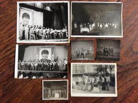 老照片,文革时期演出照片7张