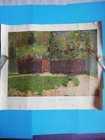 五十年代苏联原版油画.初绿.五月.长54.5宽46厘米【莫斯科第七印刷厂】