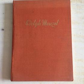 Der Maler: Adolph Menzel: 民国时期 德文原版