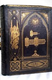 约1800年  豪华古董 超大尺寸  圣经